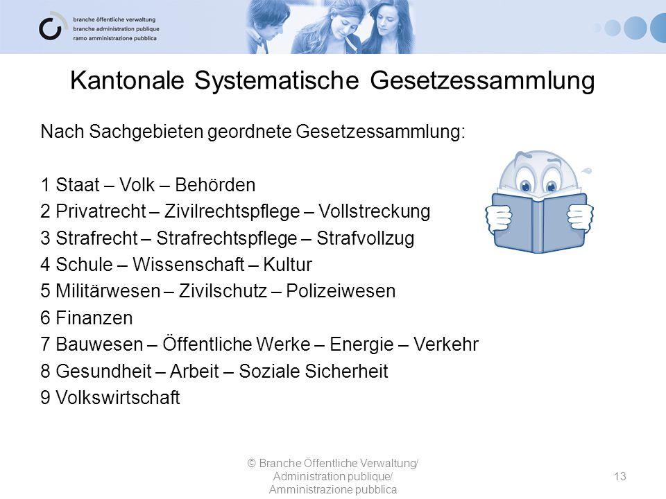 Kantonale Systematische Gesetzessammlung