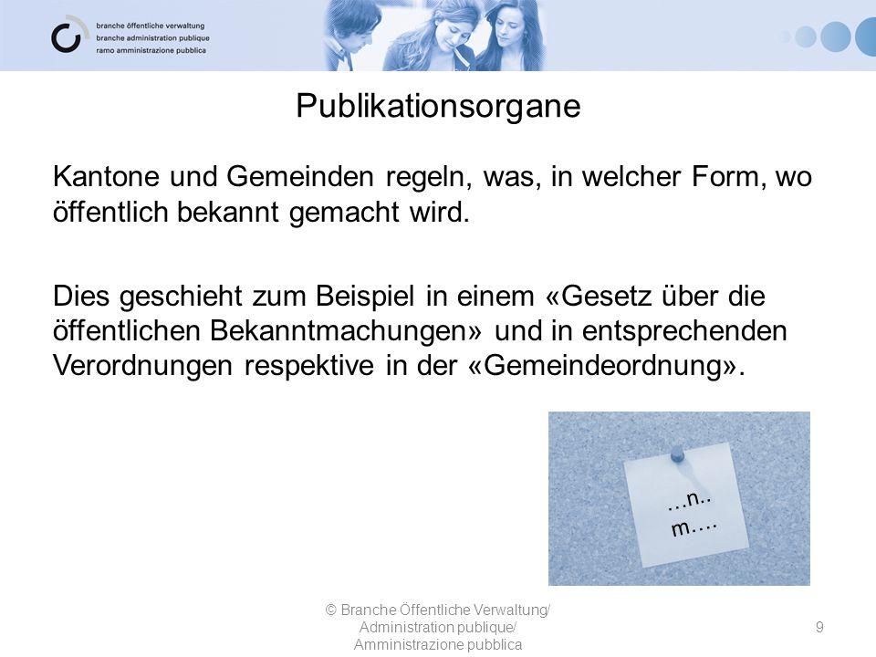 Publikationsorgane