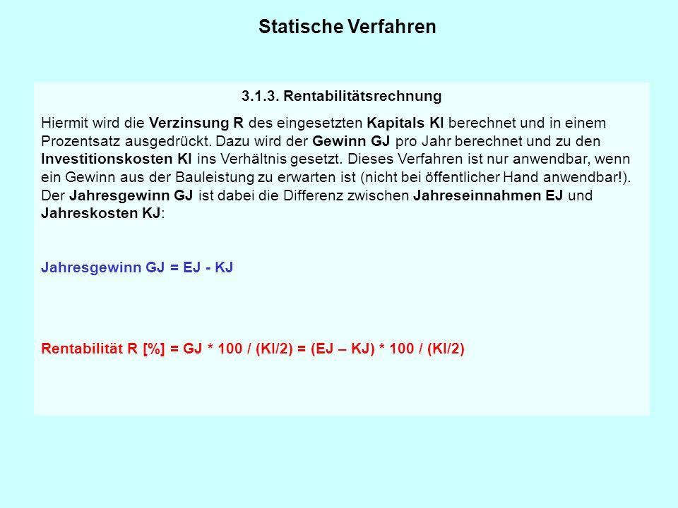 3.1.3. Rentabilitätsrechnung
