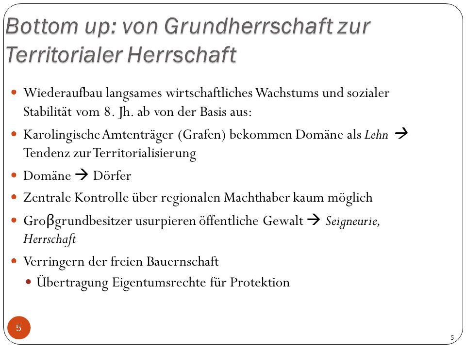 Bottom up: von Grundherrschaft zur Territorialer Herrschaft