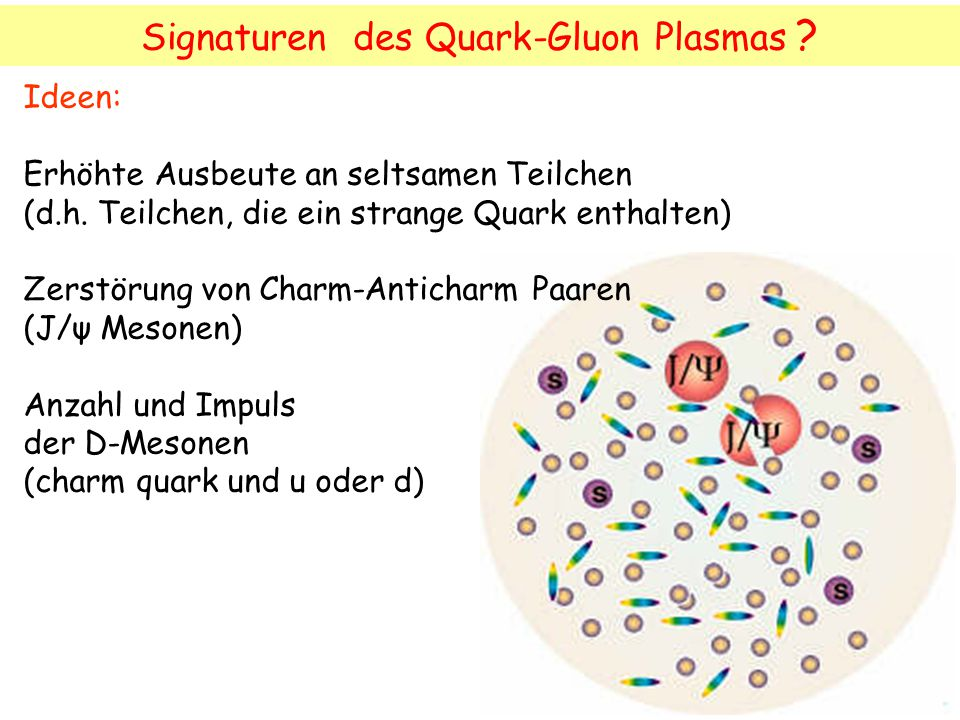 Signaturen des Quark-Gluon Plasmas
