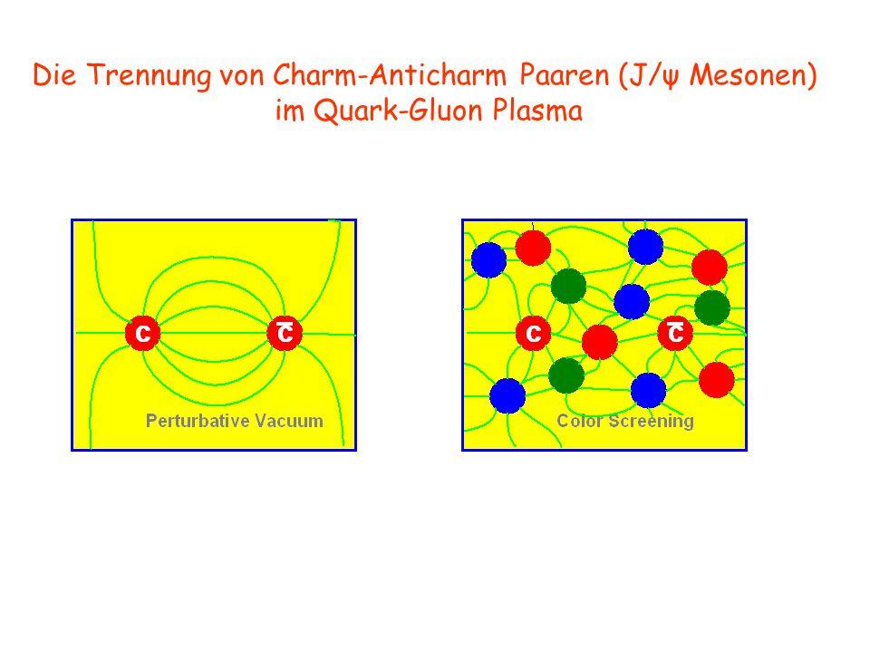 Die Trennung von Charm-Anticharm Paaren (J/ψ Mesonen)