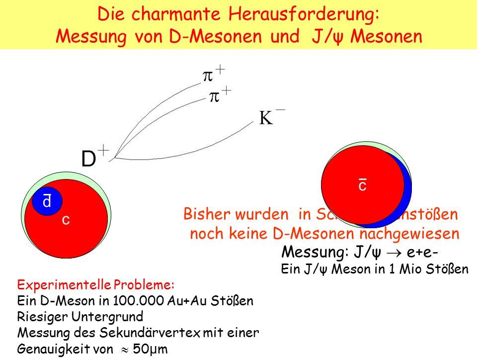 Die charmante Herausforderung: Messung von D-Mesonen und J/ψ Mesonen