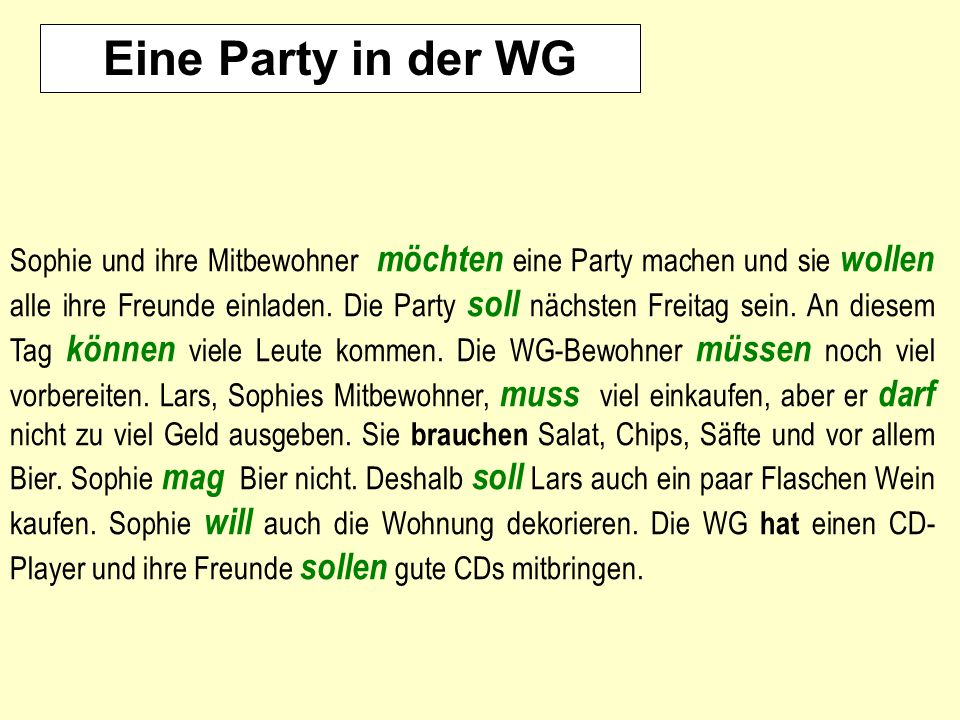 Eine Party in der WG