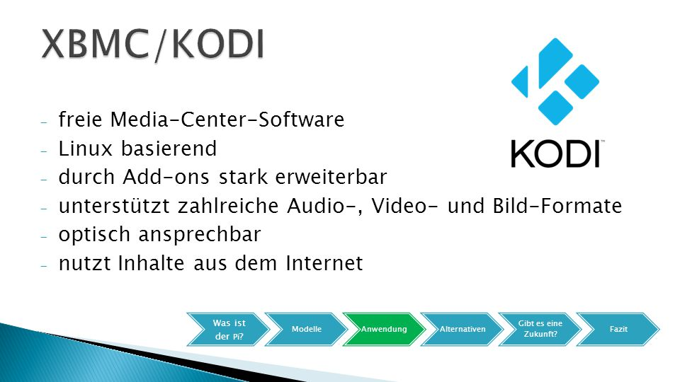 XBMC/KODI freie Media-Center-Software Linux basierend