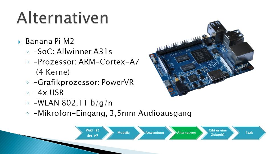 Alternativen Banana Pi M2 -SoC: Allwinner A31s
