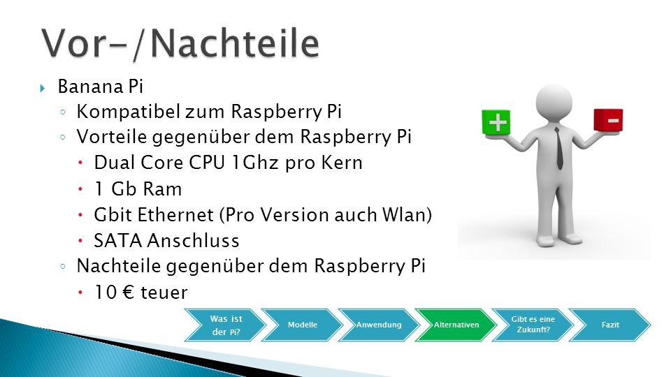Vor-/Nachteile Banana Pi Kompatibel zum Raspberry Pi