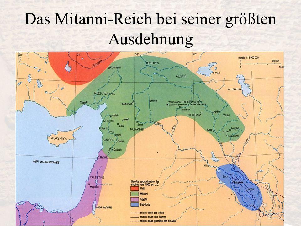 Das Mitanni-Reich bei seiner größten Ausdehnung