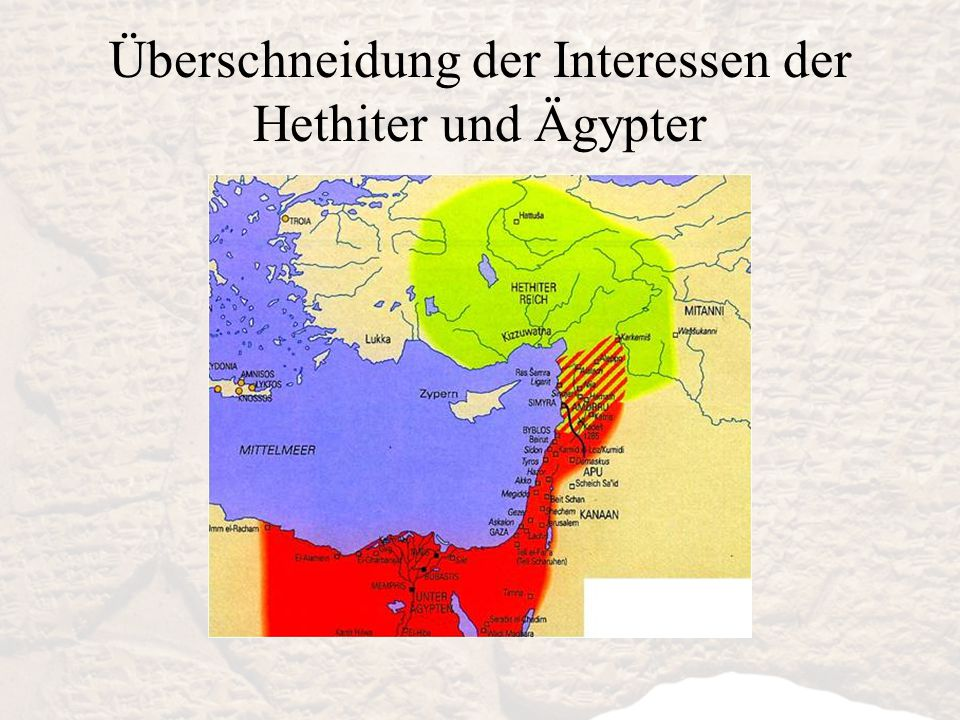 Überschneidung der Interessen der Hethiter und Ägypter