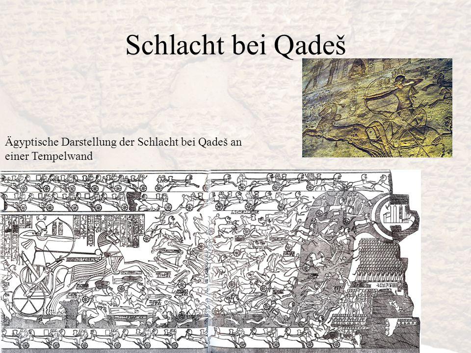 Schlacht bei Qadeš Ägyptische Darstellung der Schlacht bei Qadeš an einer Tempelwand