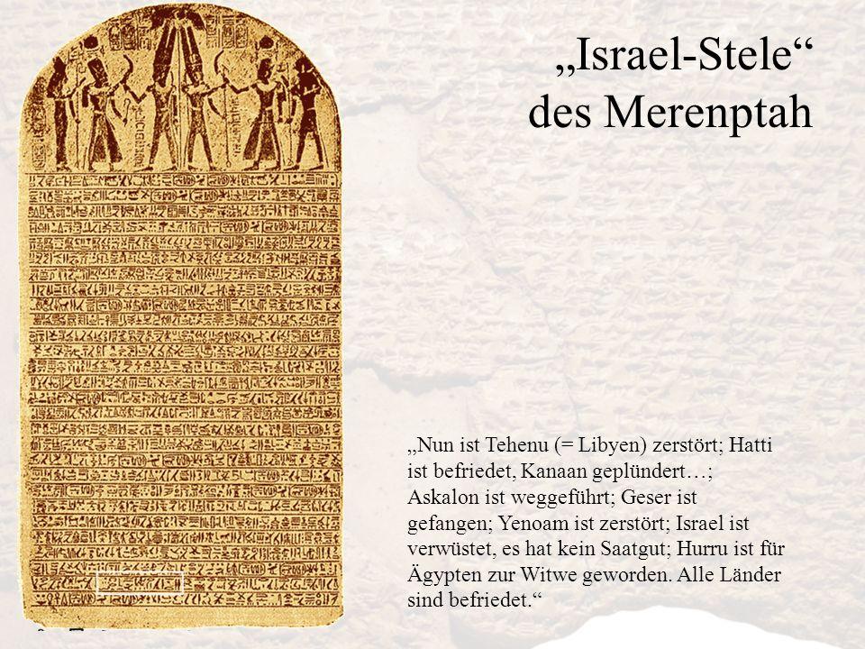 """Israel-Stele des Merenptah"