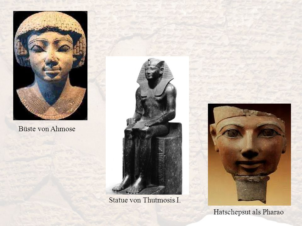Büste von Ahmose Statue von Thutmosis I. Hatschepsut als Pharao