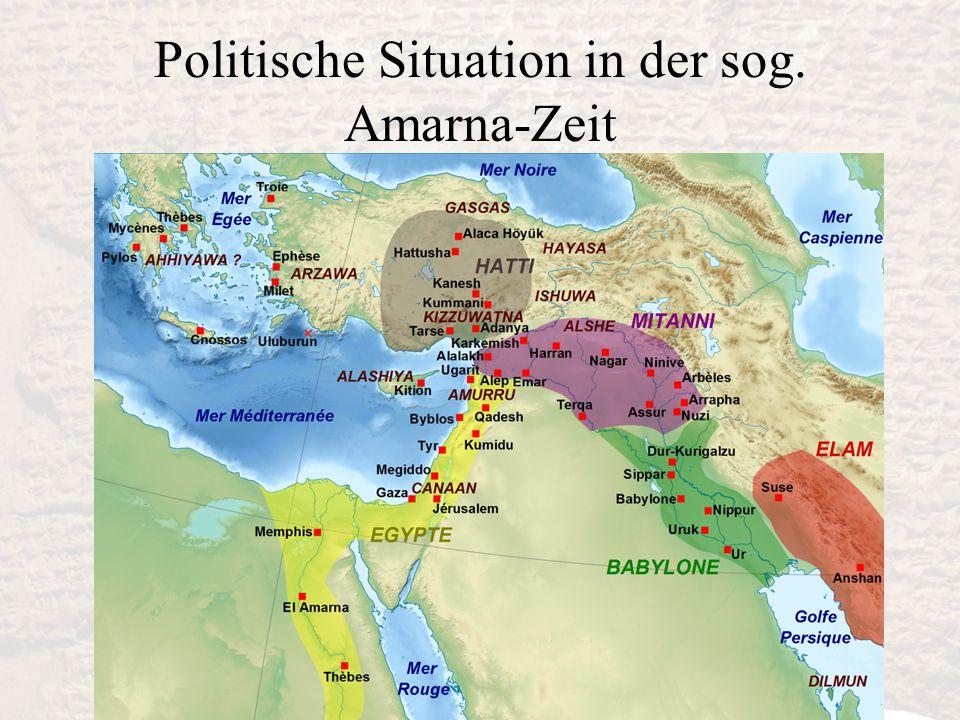 Politische Situation in der sog. Amarna-Zeit