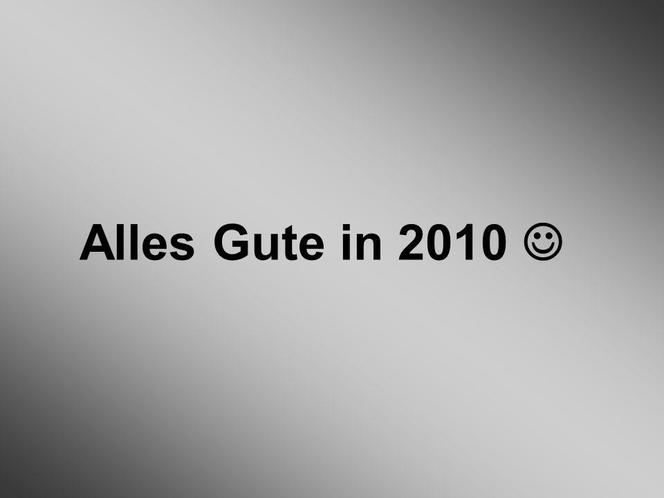 Alles Gute in 2010 