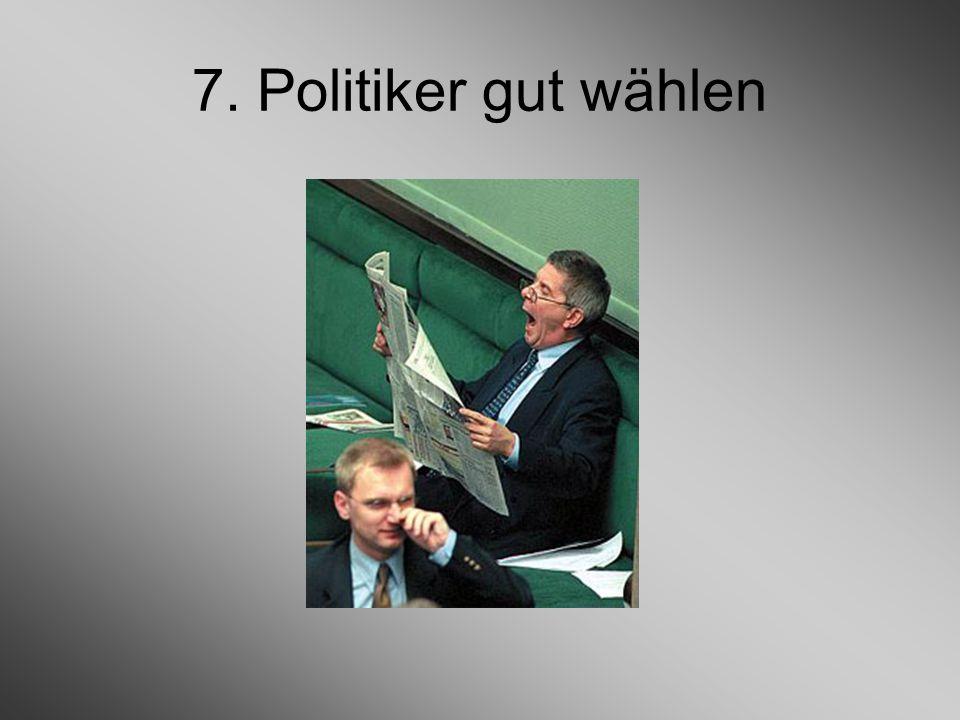 7. Politiker gut wählen