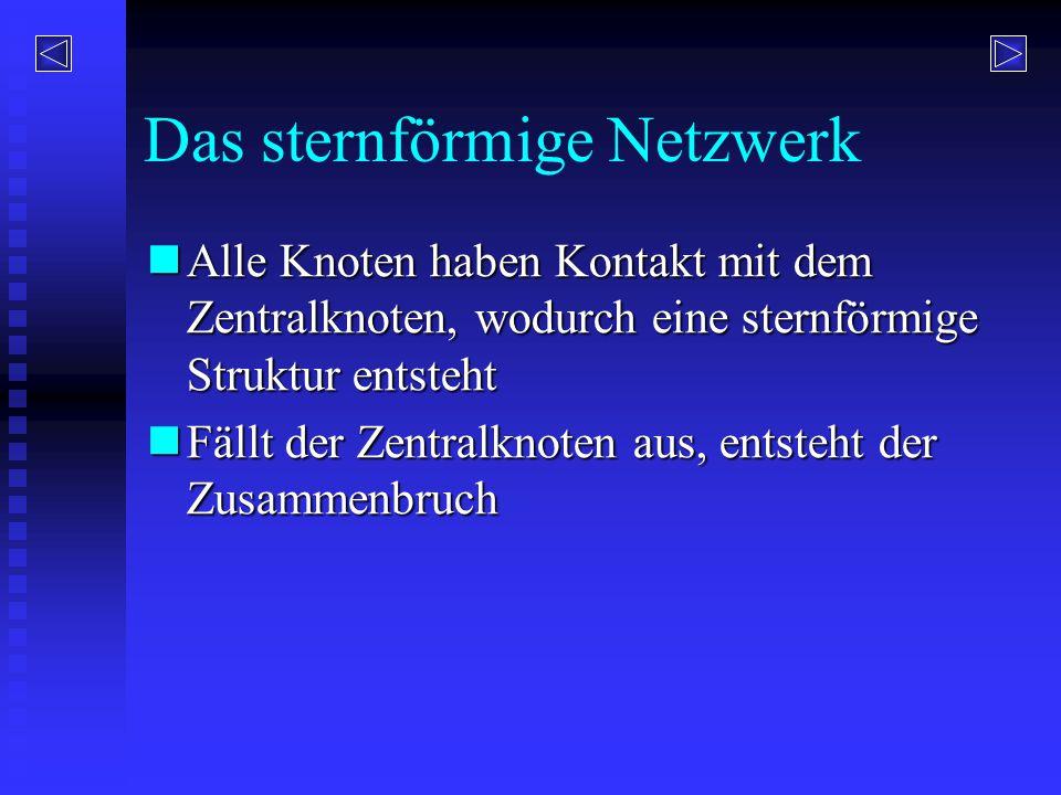 Das sternförmige Netzwerk