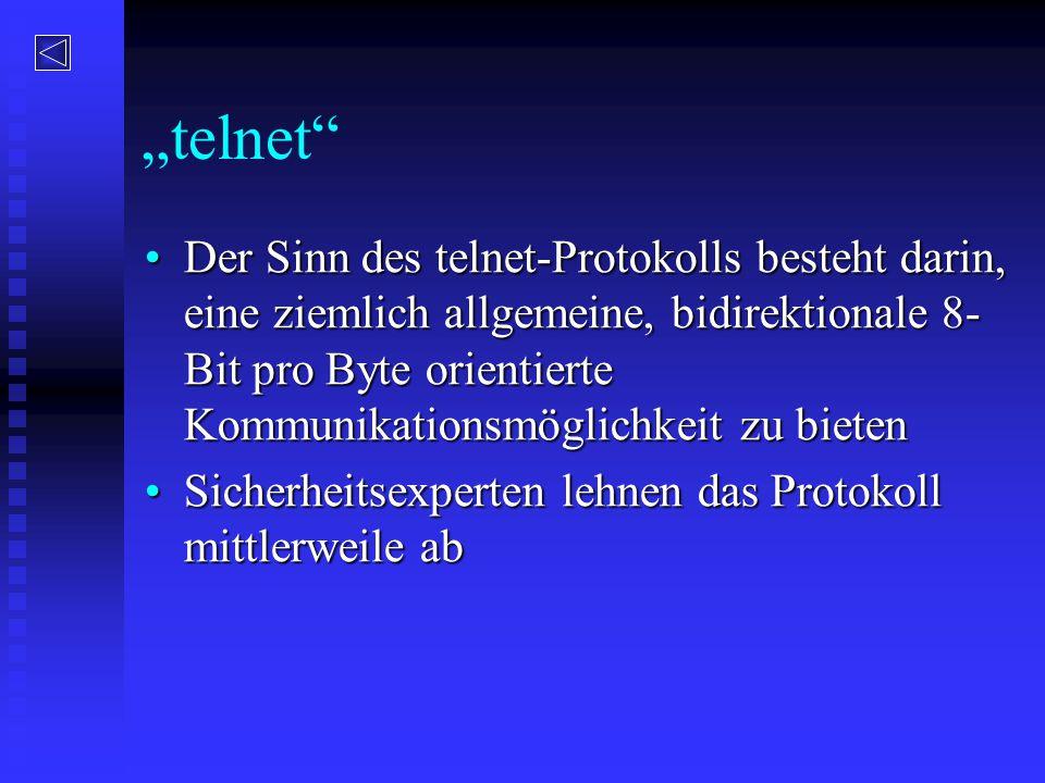 """telnet"