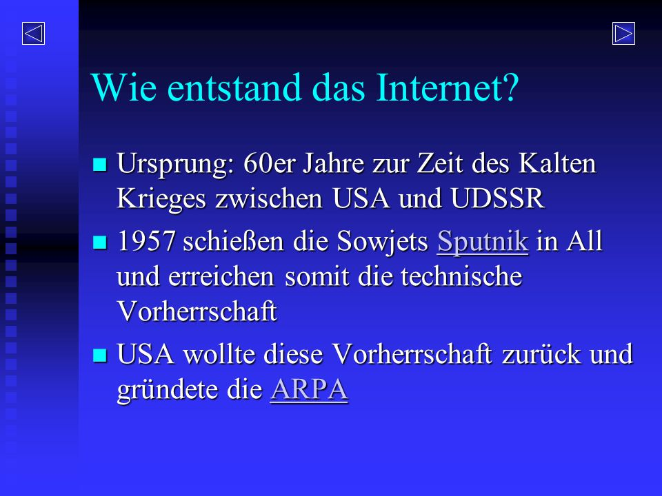 Wie entstand das Internet