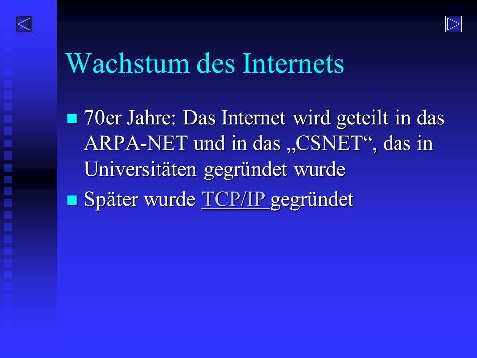 Wachstum des Internets