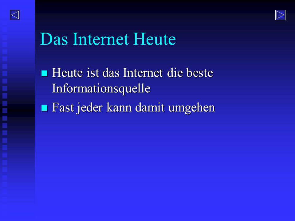 Das Internet Heute Heute ist das Internet die beste Informationsquelle