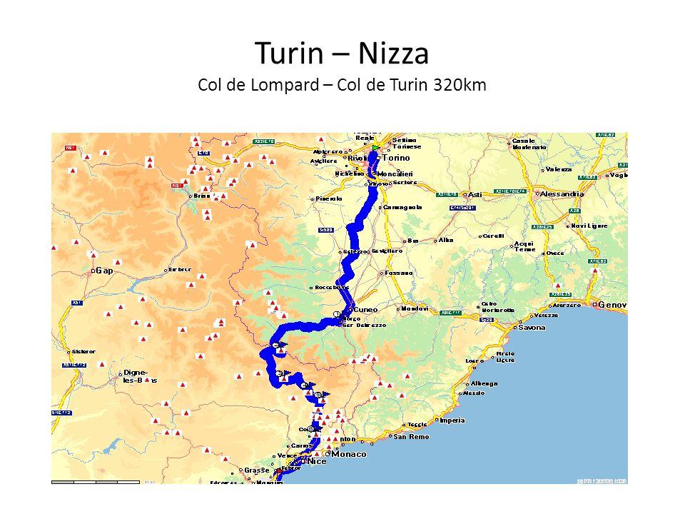 Turin – Nizza Col de Lompard – Col de Turin 320km