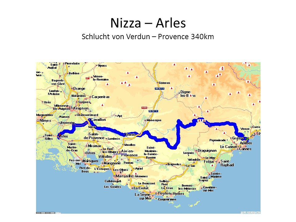 Nizza – Arles Schlucht von Verdun – Provence 340km