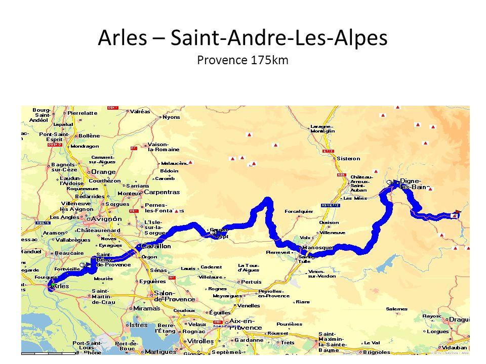 Arles – Saint-Andre-Les-Alpes Provence 175km