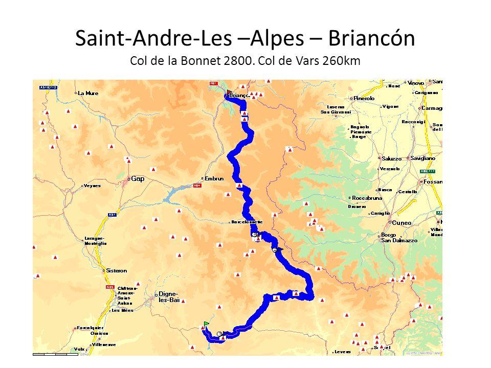 Saint-Andre-Les –Alpes – Briancón Col de la Bonnet 2800