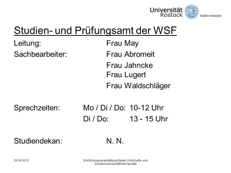 Studien- und Prüfungsamt der WSF