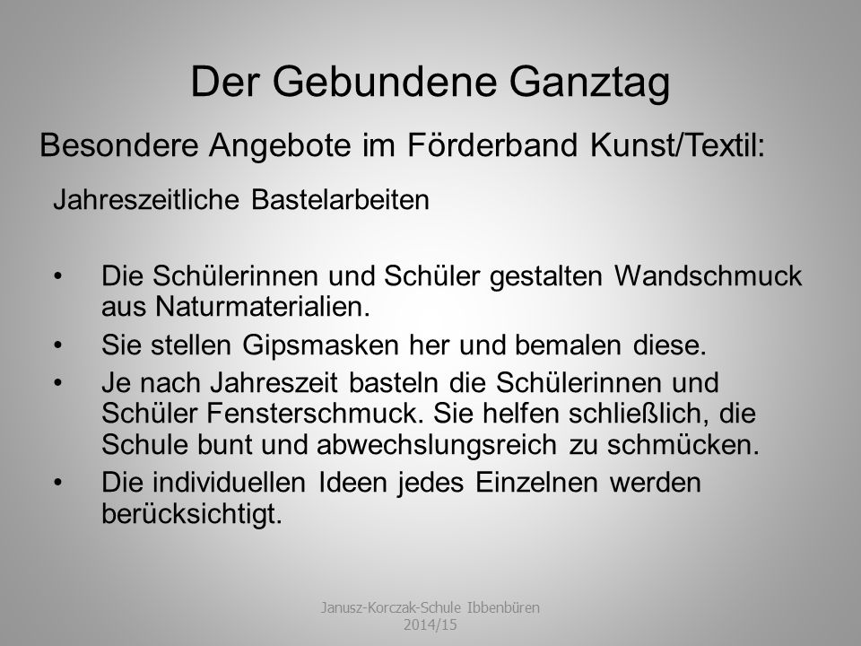 Janusz-Korczak-Schule Ibbenbüren 2014/15