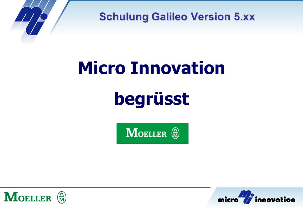 Schulung Galileo Version 5.xx