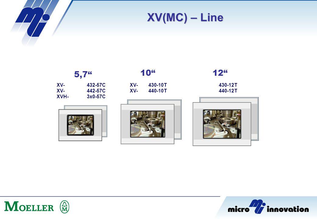 XV(MC) – Line 5,7 10 12 XV- XVH- 432-57C 442-57C 3x0-57C 430-10T