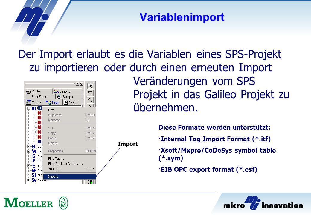 Variablenimport