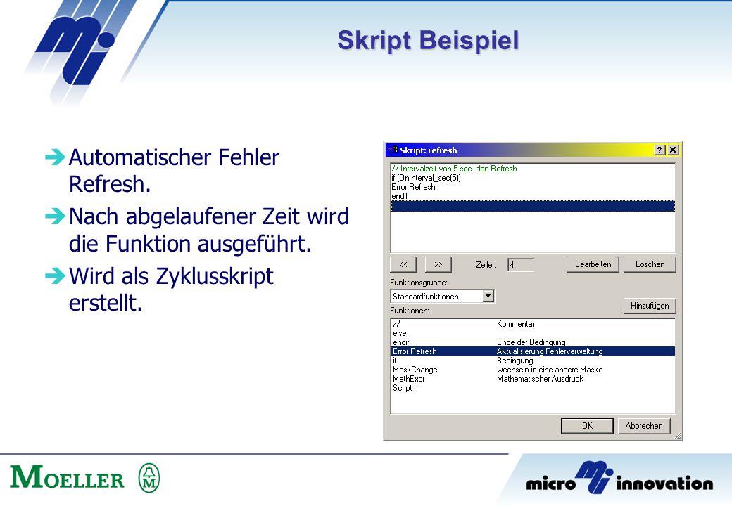 Skript Beispiel Automatischer Fehler Refresh.