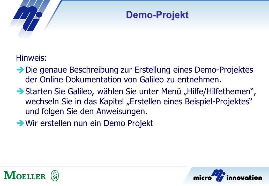 Demo-Projekt Hinweis: