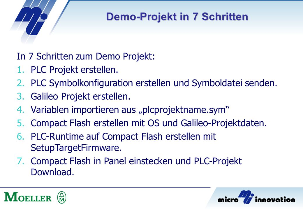 Demo-Projekt in 7 Schritten