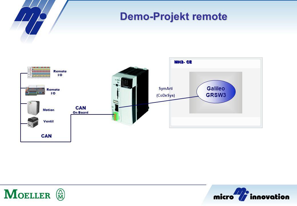 Demo-Projekt remote Galileo GRSW3 CAN CAN MH2- CE SymArti (CoDeSys)