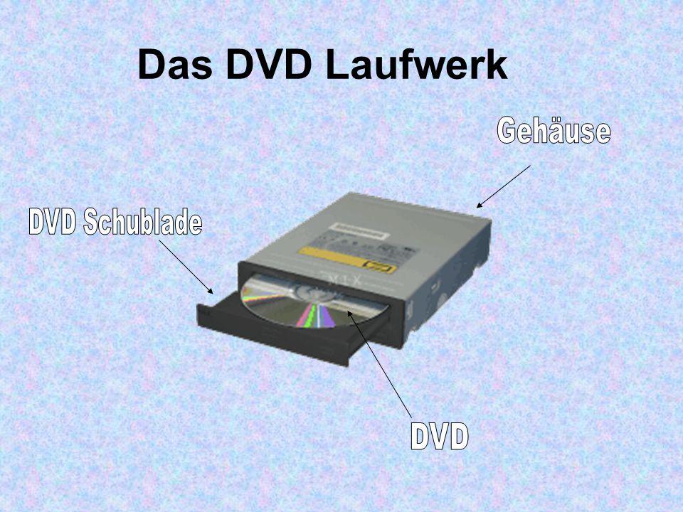 Das DVD Laufwerk Gehäuse DVD Schublade DVD