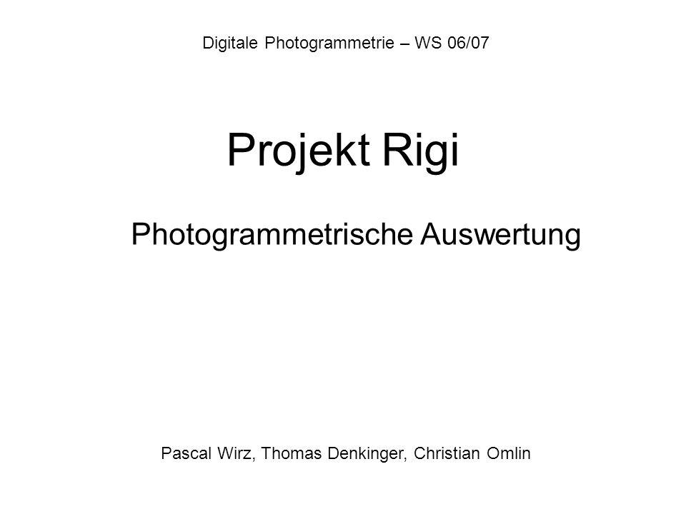 Photogrammetrische Auswertung