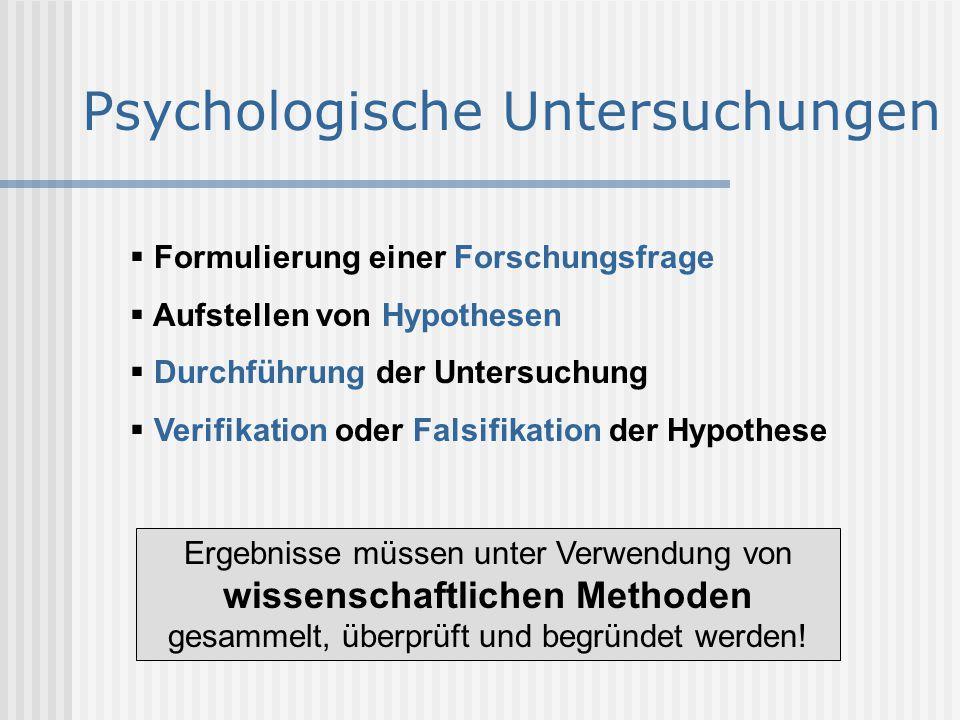 Psychologische Untersuchungen