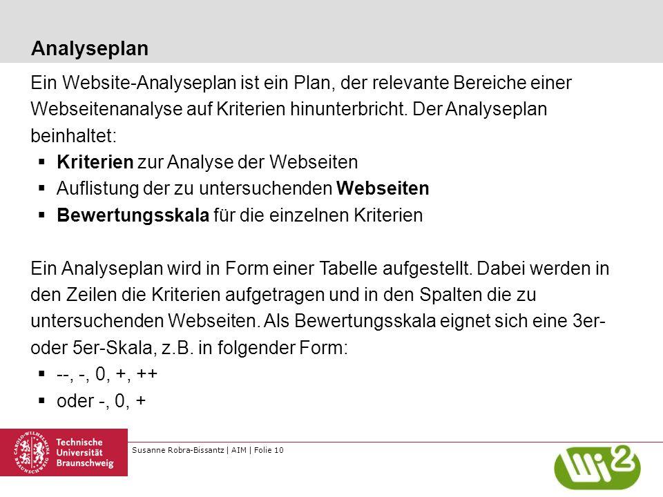 Analyseplan