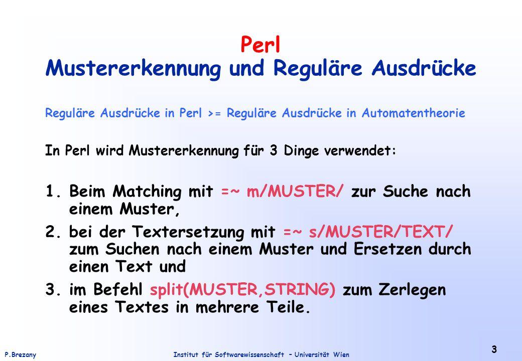 Perl Mustererkennung und Reguläre Ausdrücke