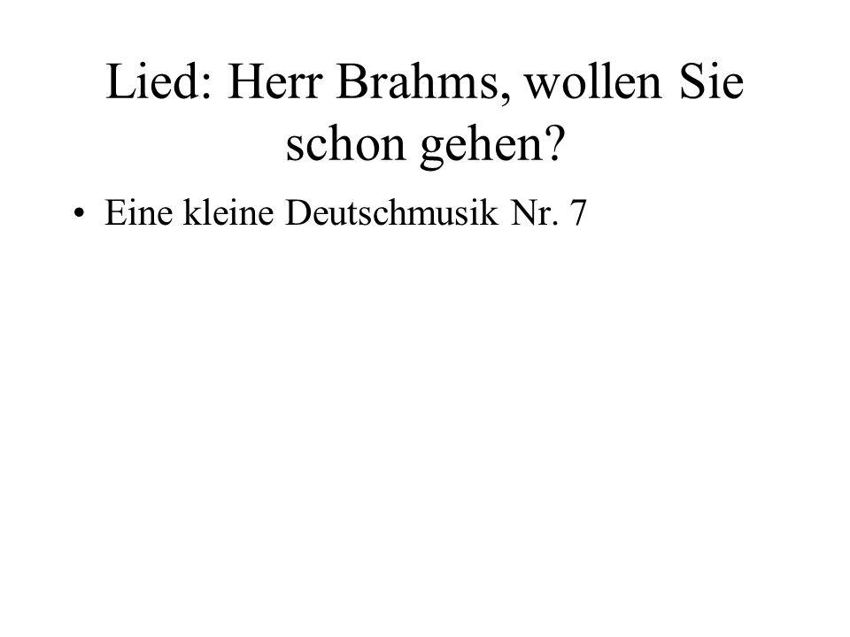 Lied: Herr Brahms, wollen Sie schon gehen