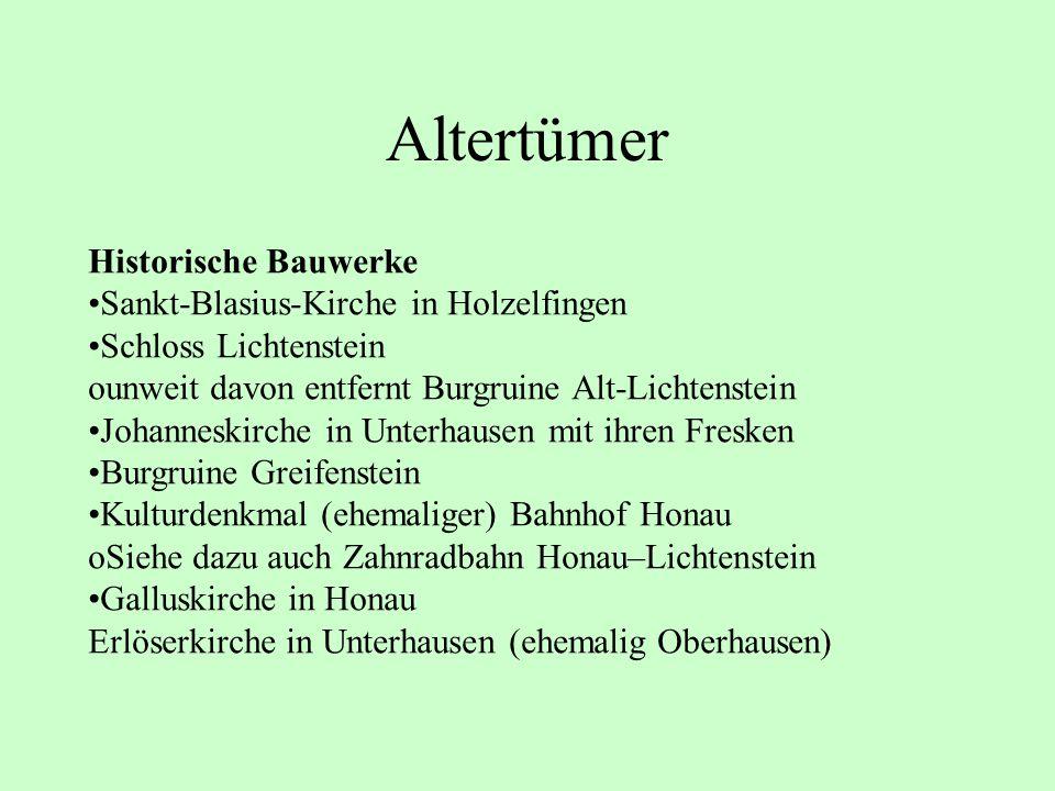 Altertümer Historische Bauwerke Sankt-Blasius-Kirche in Holzelfingen