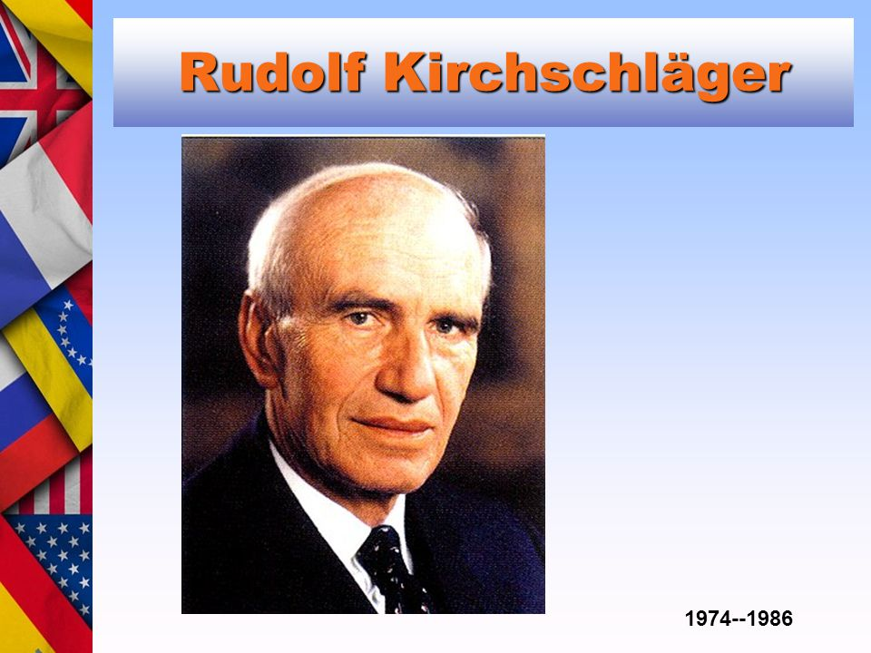 Rudolf Kirchschläger 1974--1986