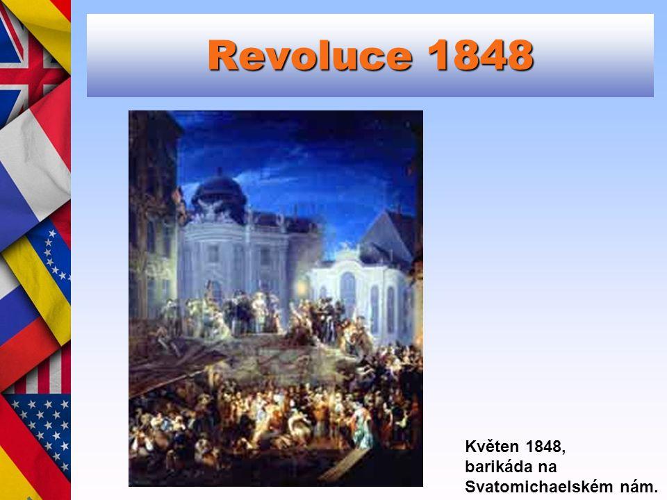 Revoluce 1848 Květen 1848, barikáda na Svatomichaelském nám.