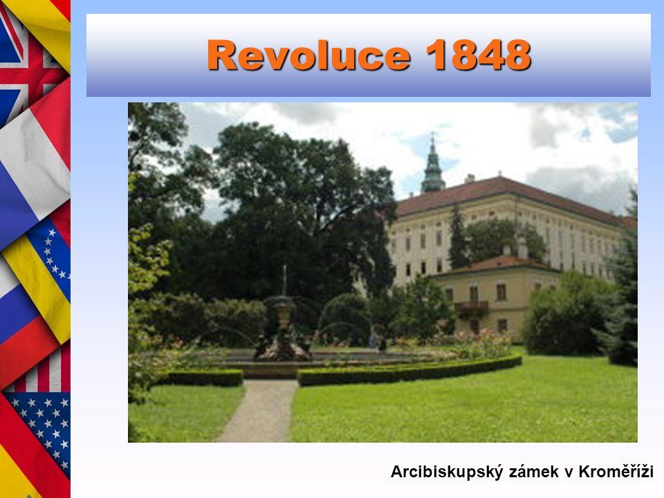 Revoluce 1848 Arcibiskupský zámek v Kroměříži