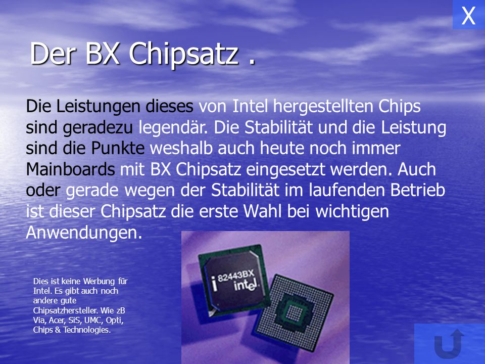 X Der BX Chipsatz .