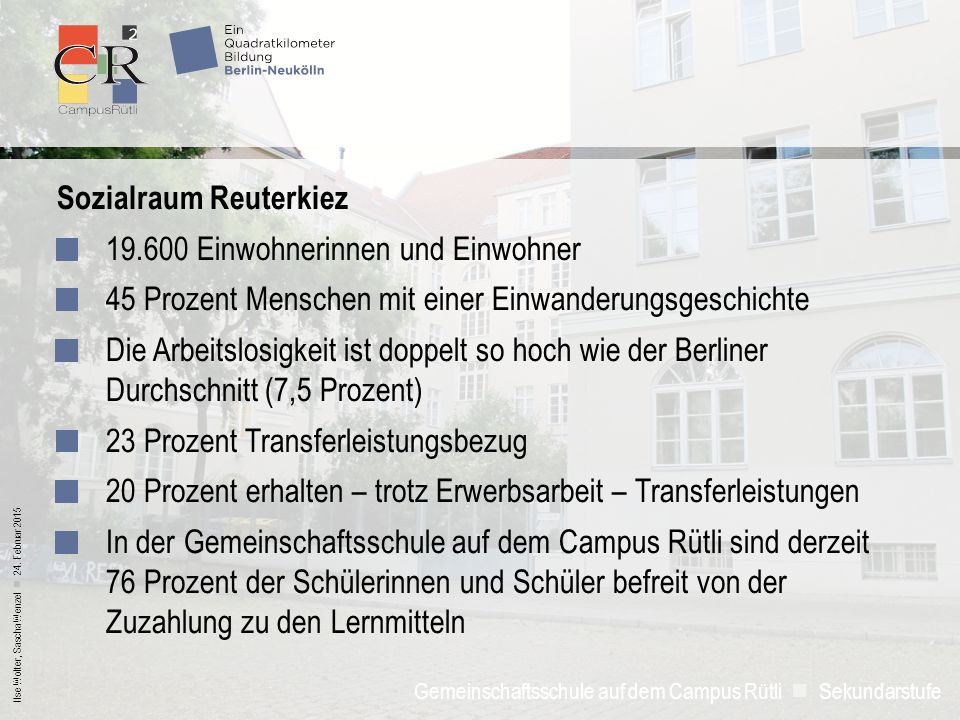 Sozialraum Reuterkiez 19.600 Einwohnerinnen und Einwohner