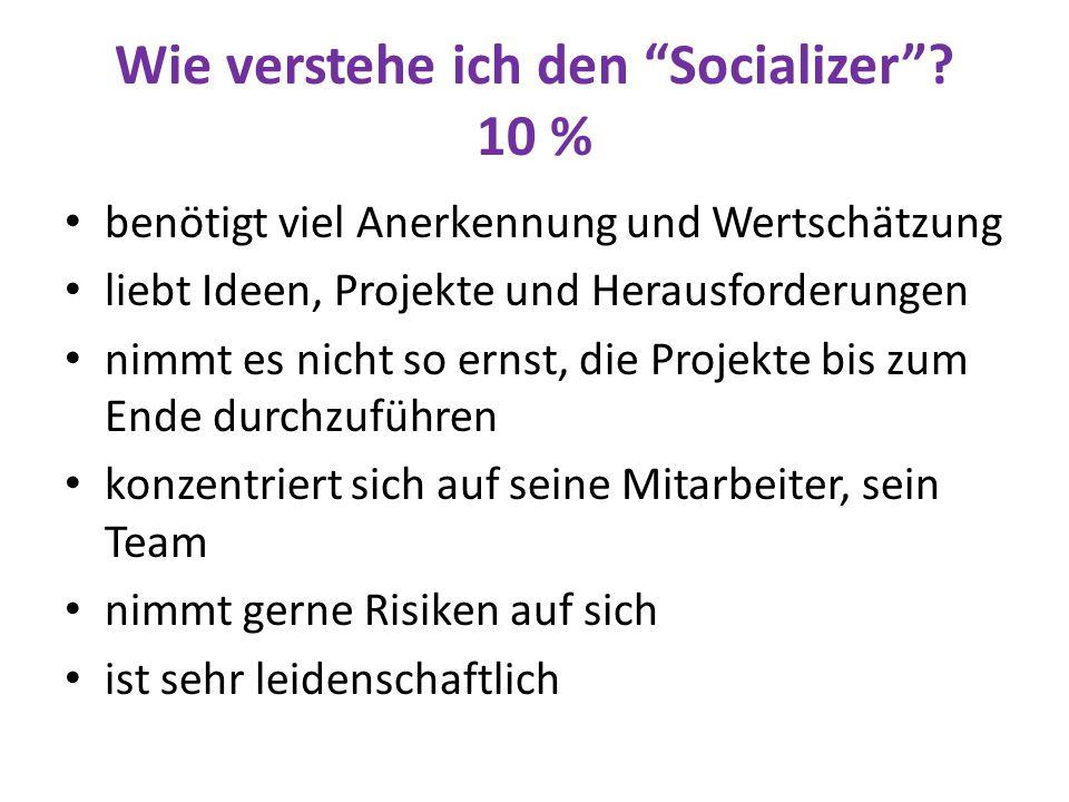 Wie verstehe ich den Socializer 10 %